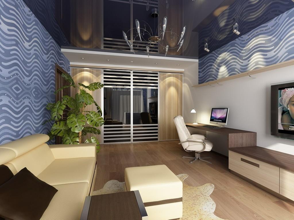Подвесной потолок в дизайне интерьера
