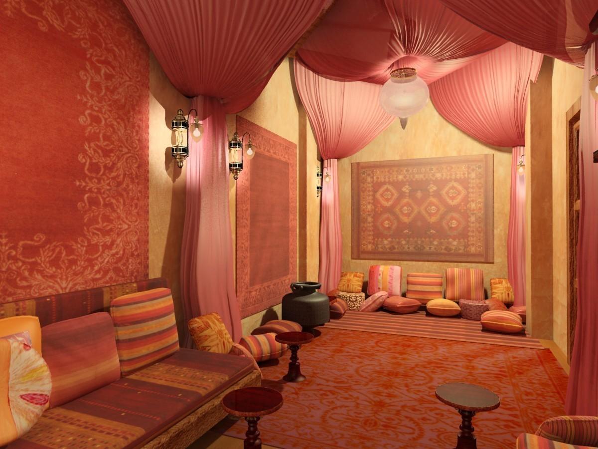 Интерьер в индийском стиле.Комната в индийском стиле.Дизайн в индийском стиле.Фото и описание.