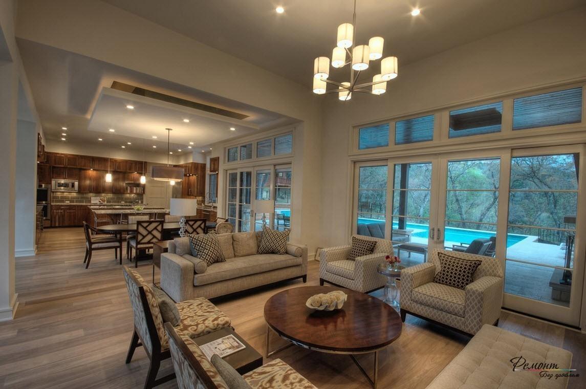 Интерьер и освещение в загородных жилищах