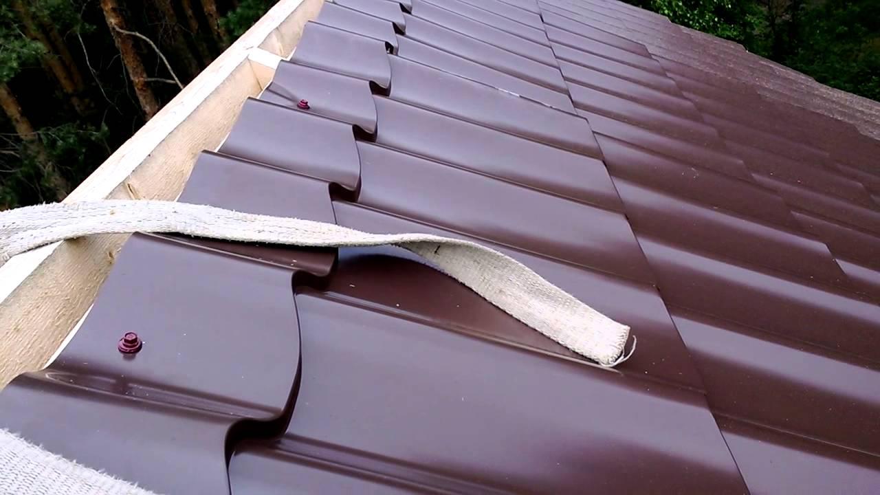 Как самому покрыть крышу металлочерепицей