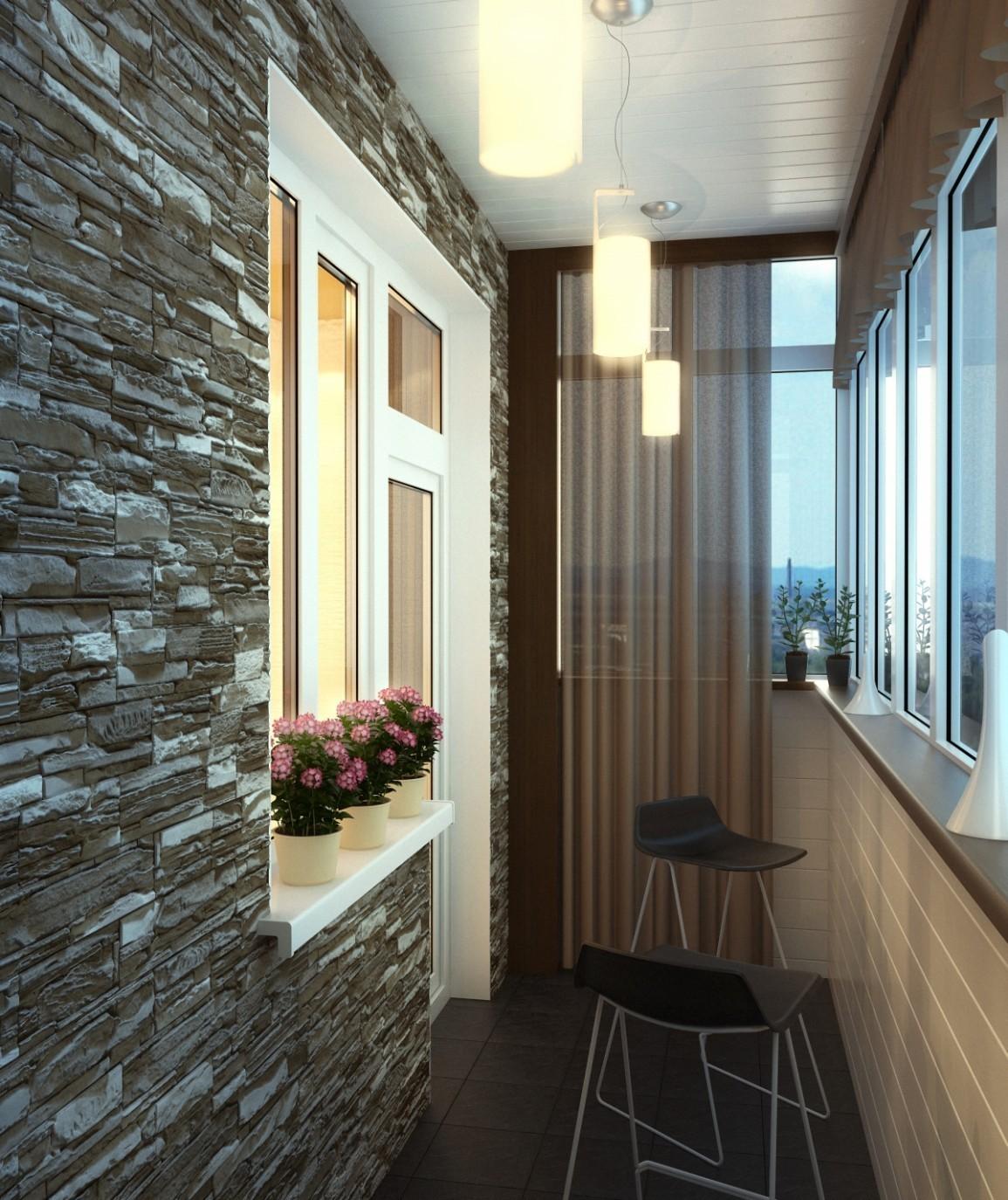 Варианты дизайна интерьера балконов и лоджий..