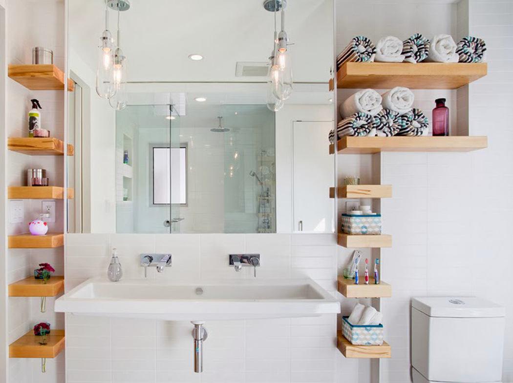 Организация пространства в ванной комнате: идеи для хранения вещей