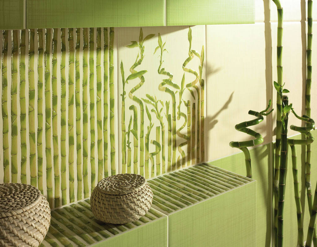фото бамбук в интерьере
