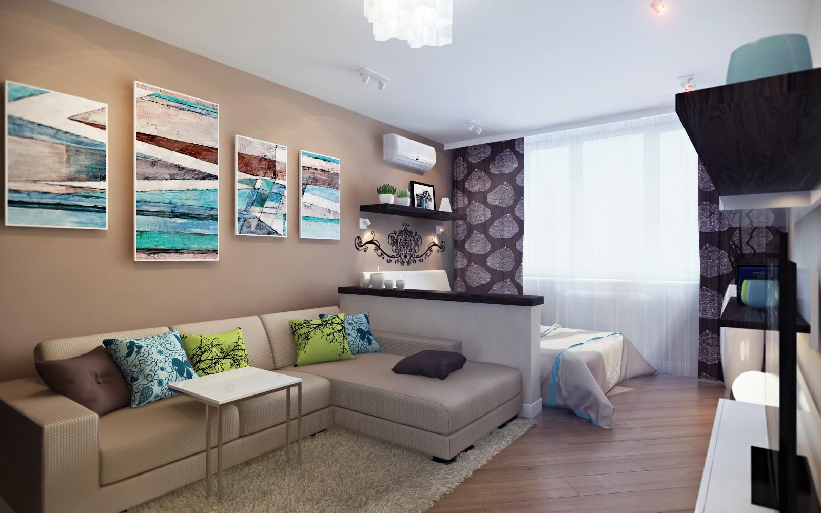 Как обустроить интерьер однокомнатной квартиры
