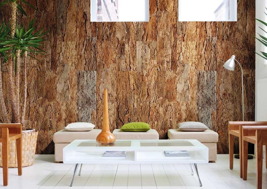 Пробковые обои: умный дизайн помещения