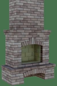 Строительство камина из кирпича