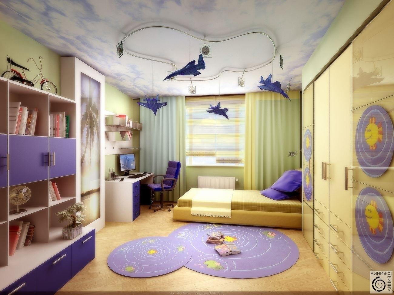Варианты детских комнат для детей1