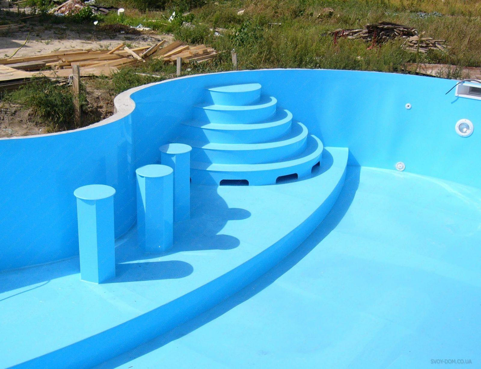Бассейн из бетона или пластика на даче1