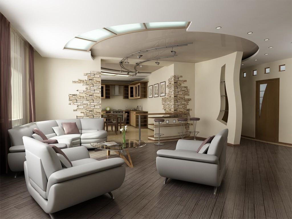 Стильный потолок в квартире