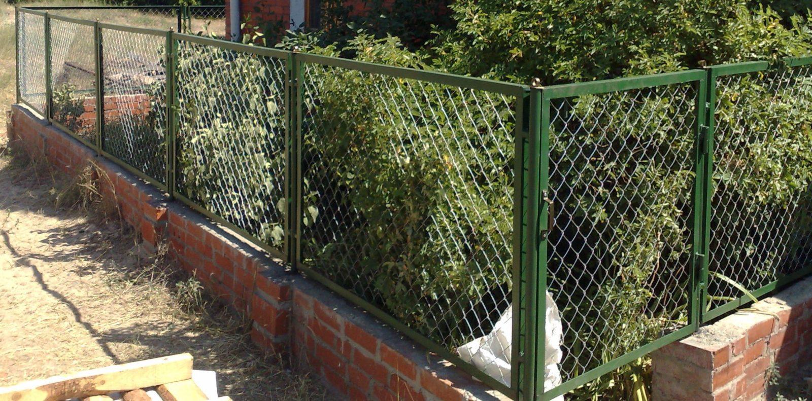 Ограда для палисадника своими руками 73