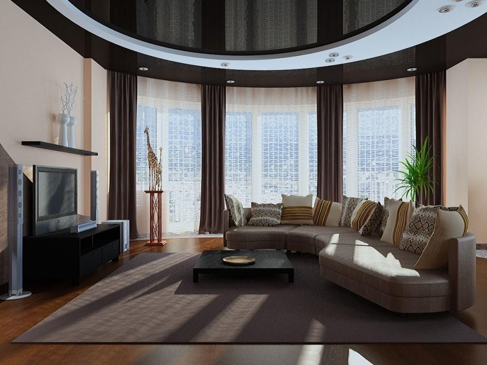 Интерьер в гостиной мебелировка