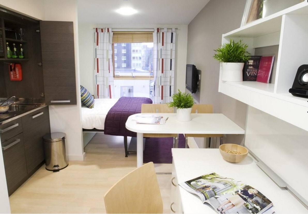 Перепланировка небольшой однокомнатной квартиры
