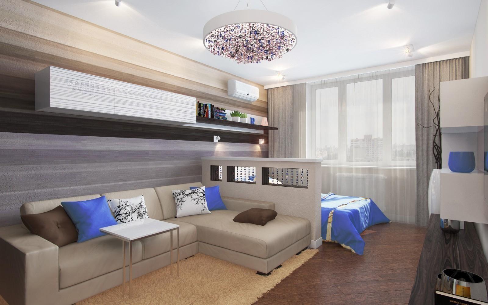 Как разделить комнату на гостиную и кухню