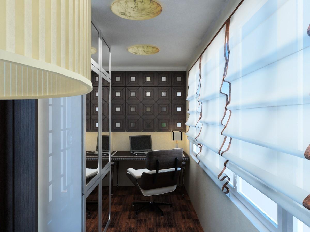 Практичный и уютный балкон