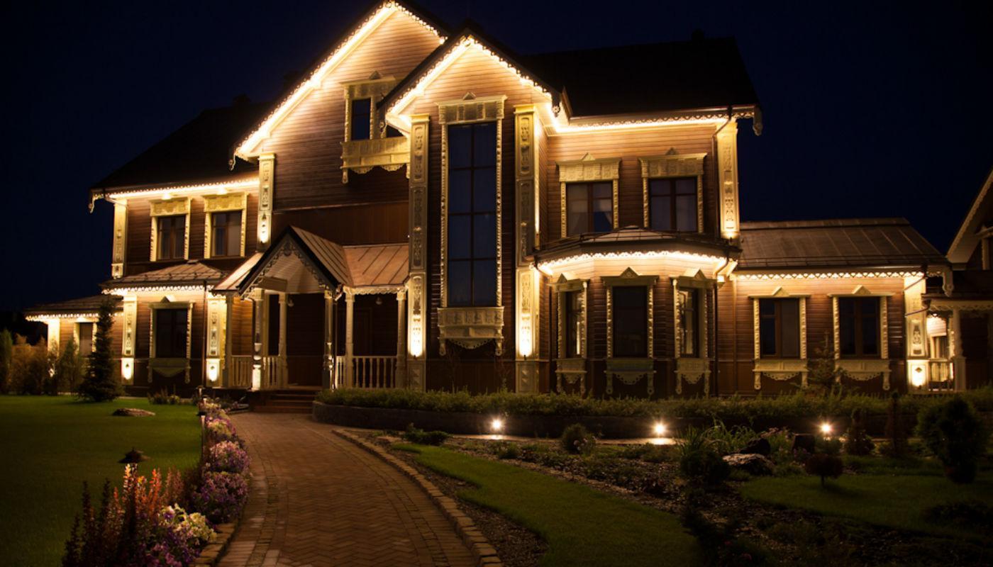 Светодиодная лента в загородном доме