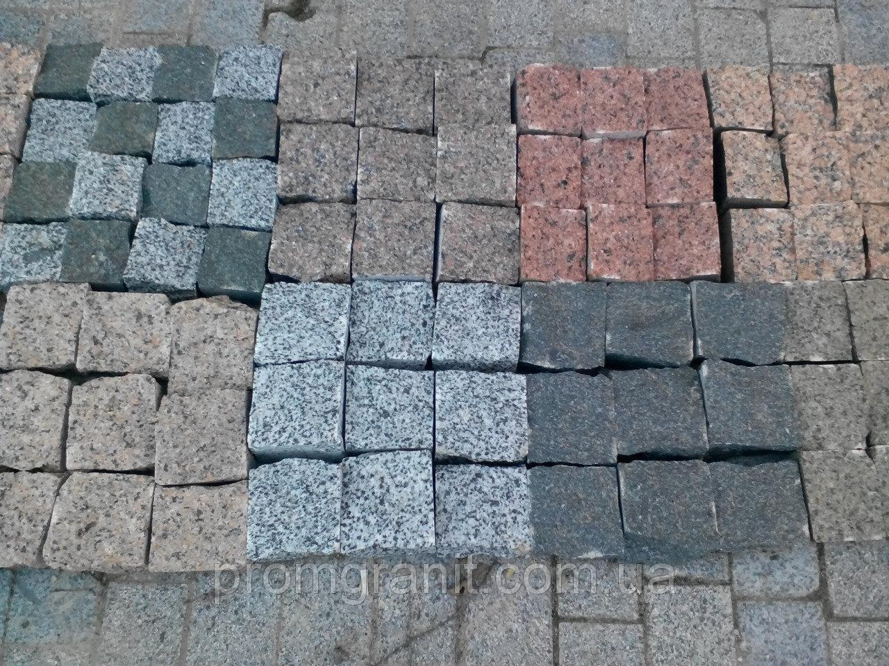 Натуральная тротуарная плитка из гранита