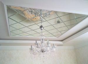 Оклейка потолка потолочной плиткой