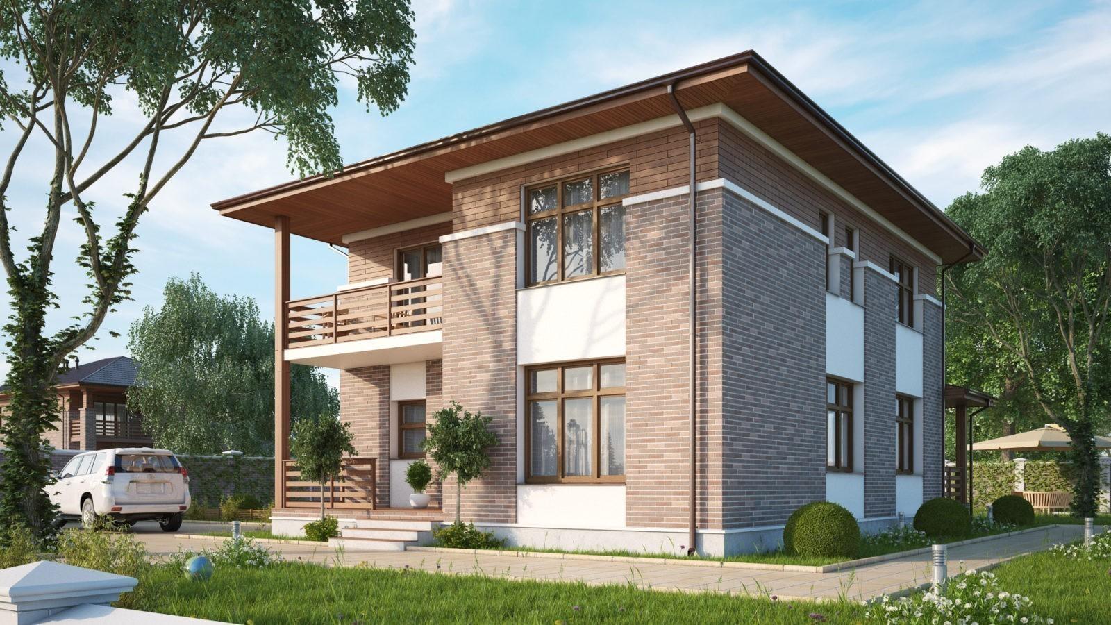 кирпичные дома фото проекты