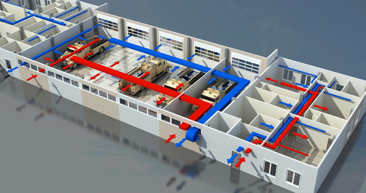 Система вентиляции для офисных помещений
