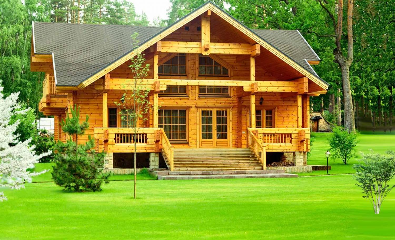 Строительство деревянного дома и техника