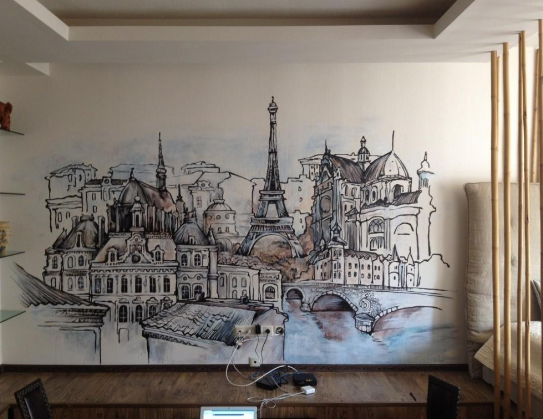 Художественная роспись в интерьере трудоемкое декорирование стен
