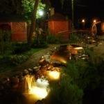 Освещение садов и парков