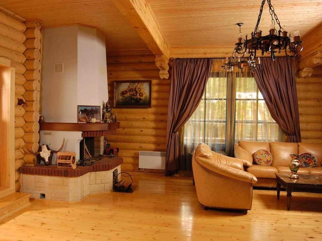 Фото интерьер деревянных домиков