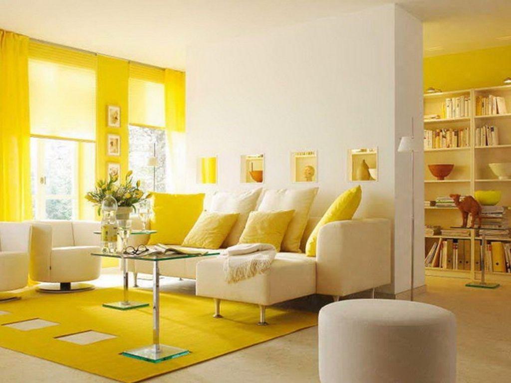 Успокаивающие цвета для стен желтый