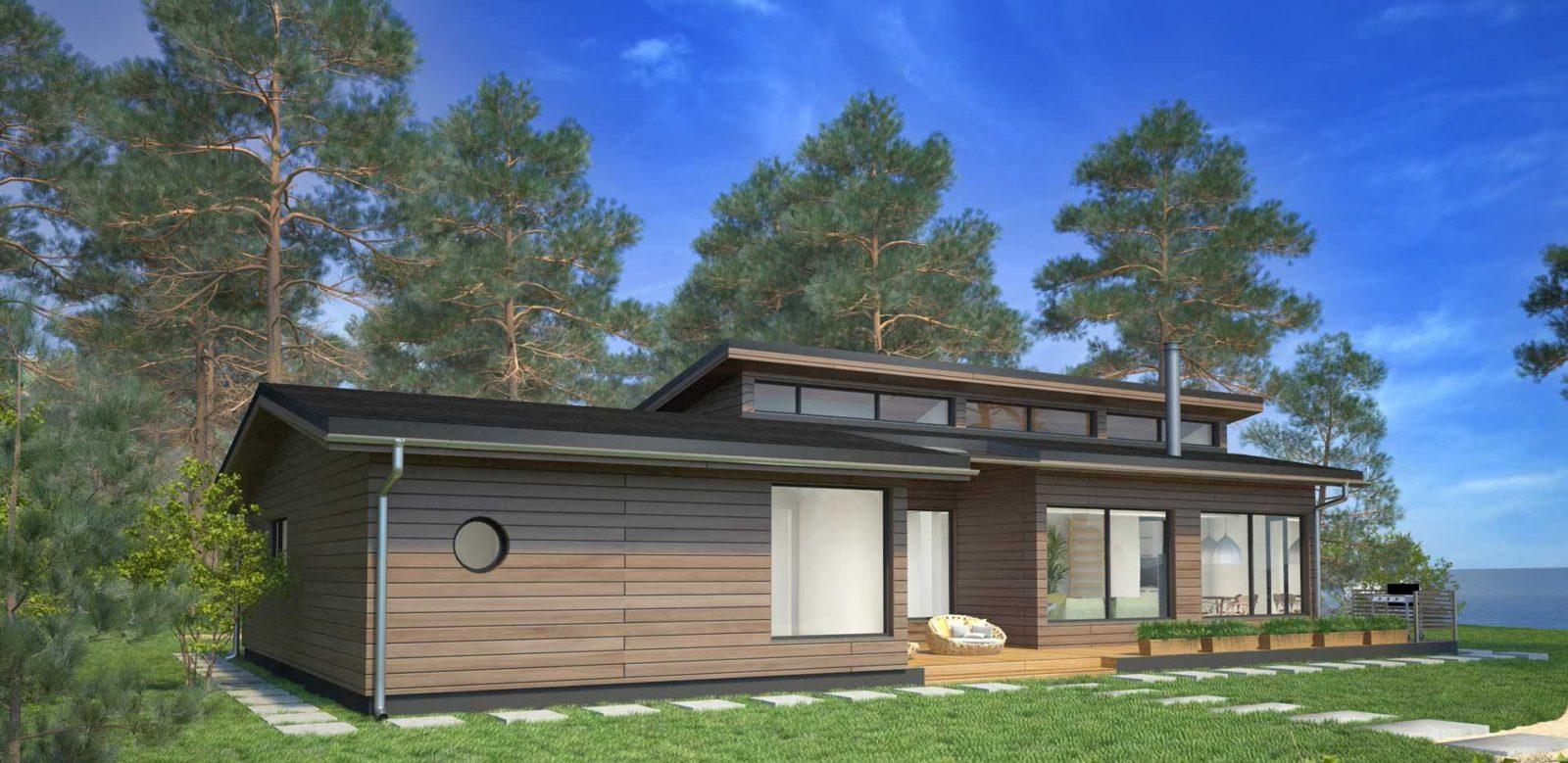 Бесплатный проект небольшого одноэтажного каркасного дома
