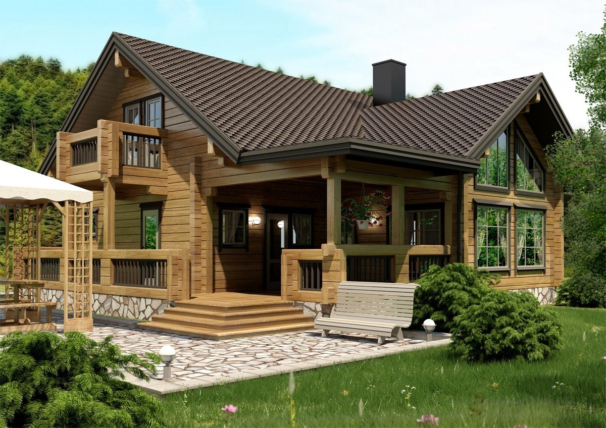 Доступные проекты деревянных домов