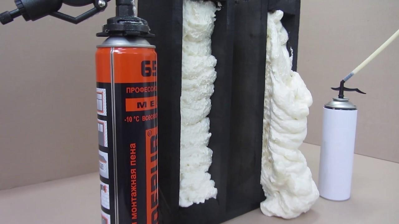 Монтажная пена как доступный изоляционный материал
