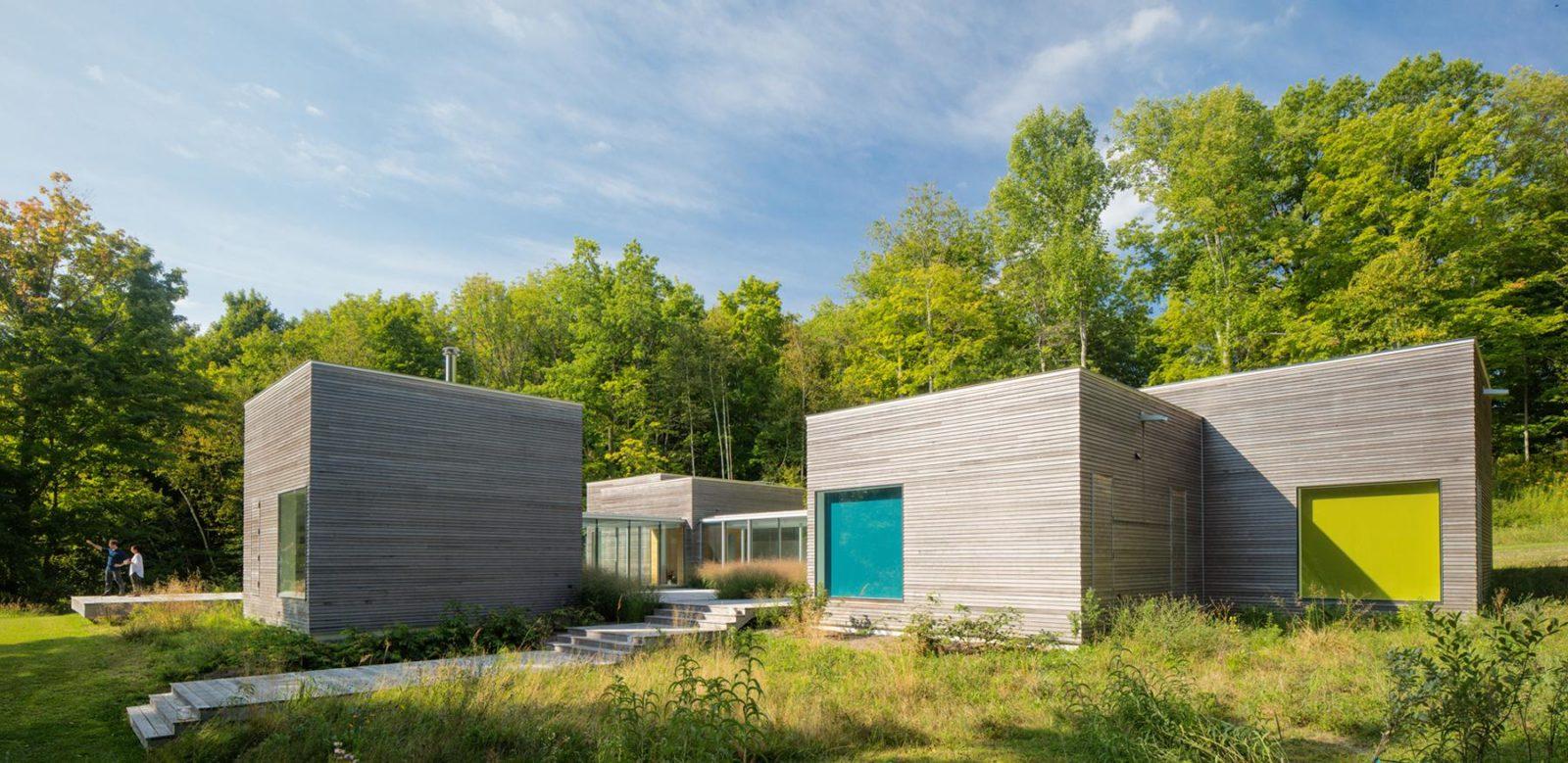Необычная планировка дома Artist retreat в деревне Фискарсе в Финляндии