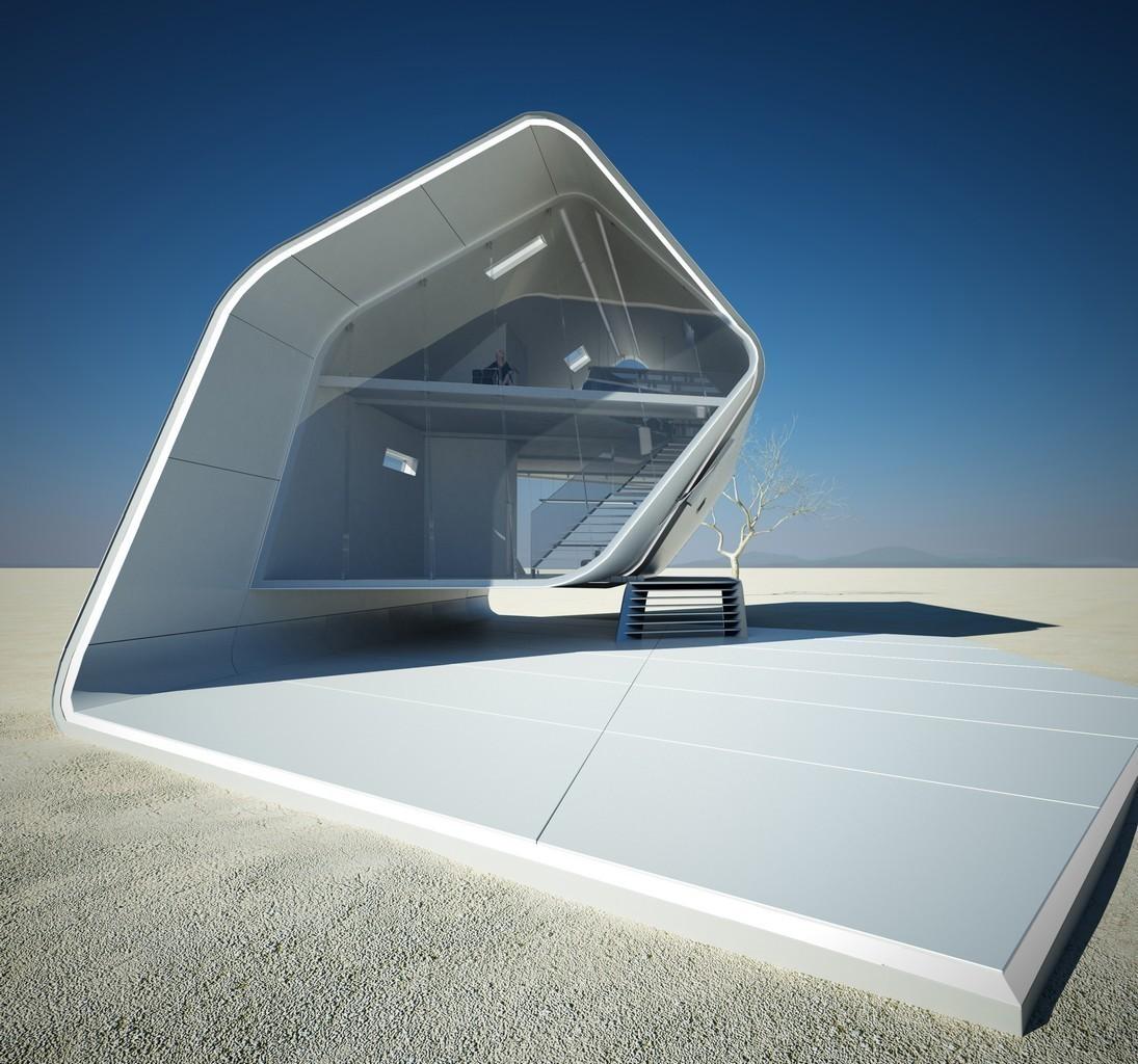 Необычная планировка модульного дома California Roll House
