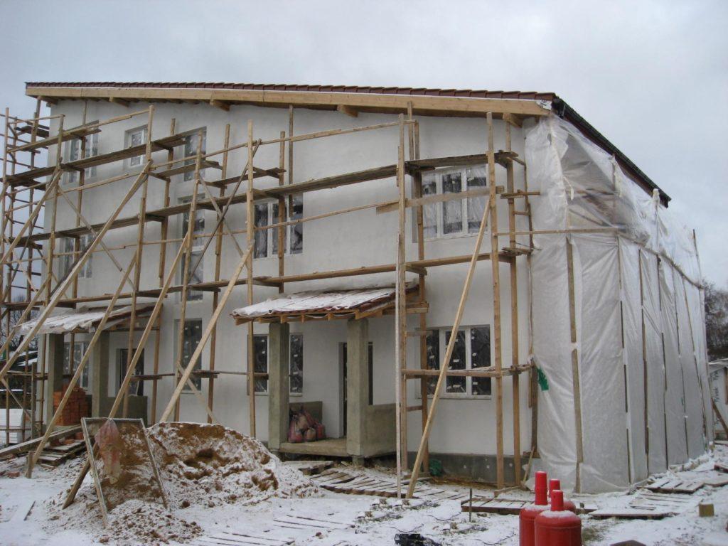 Особенности проведения фасадных работ зимой