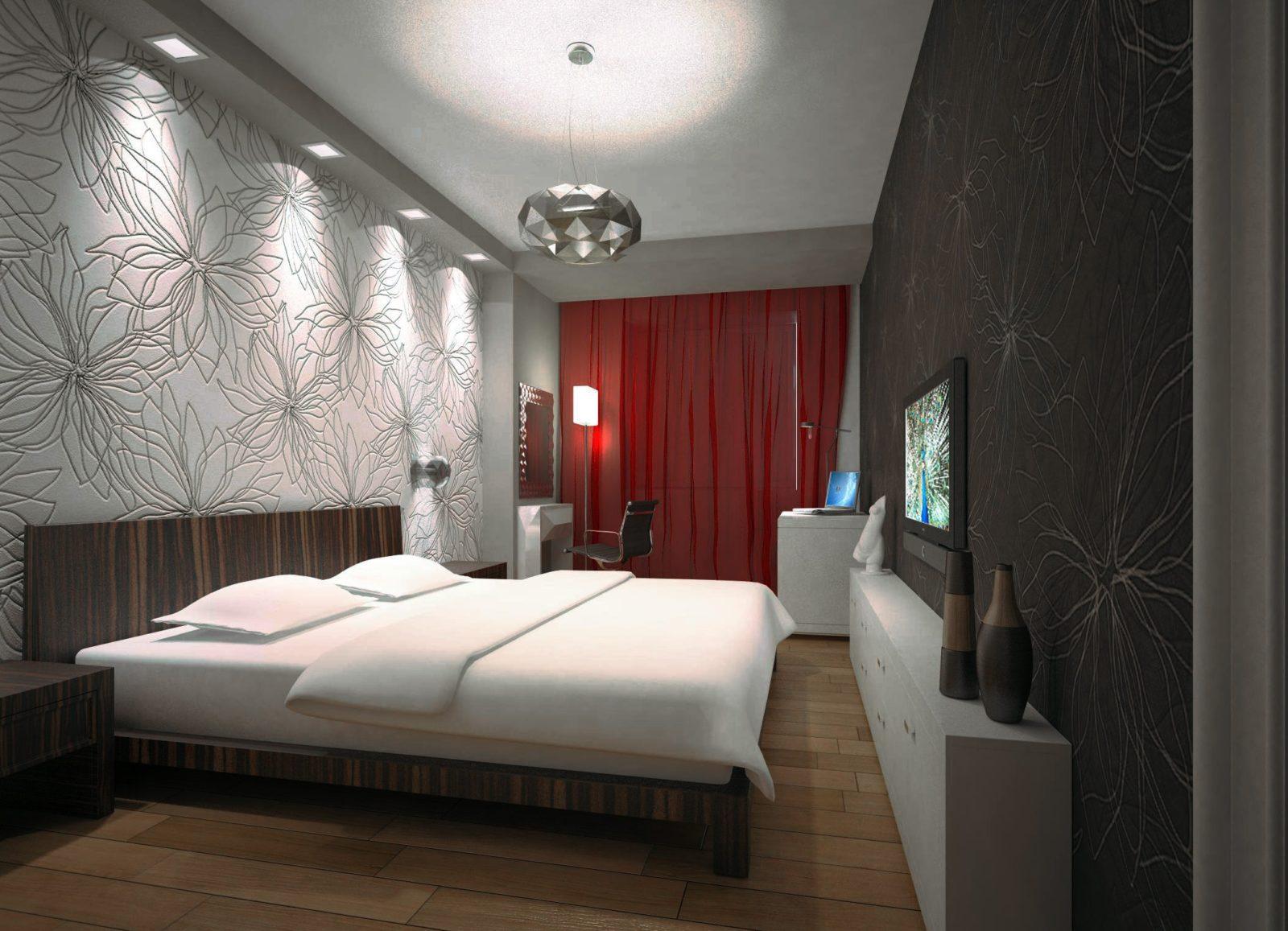 Освещение в спальне потолка
