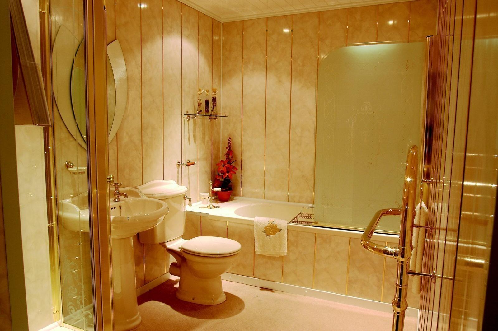 Фото ремонт ванной комнаты стеновыми панелями