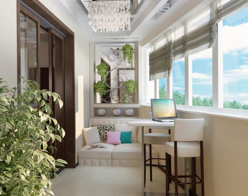 Современный балкон – стильное украшение квартиры