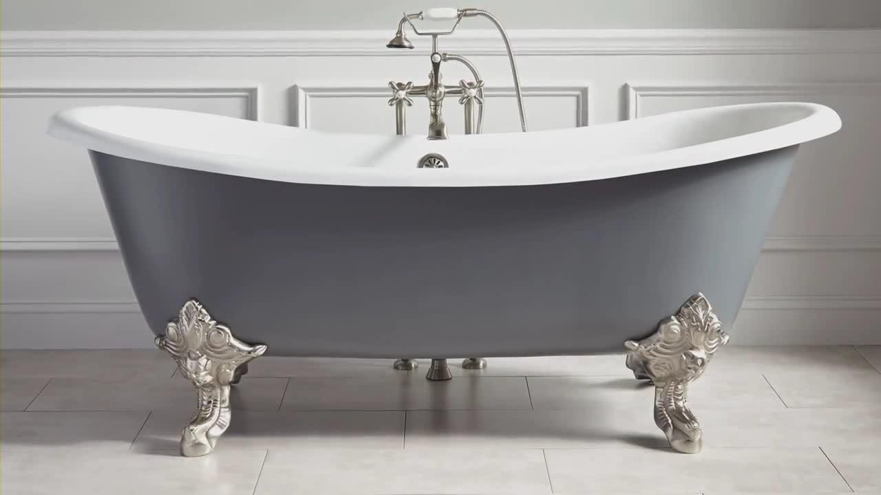 Как закрепить чугунную ванну или стальную?