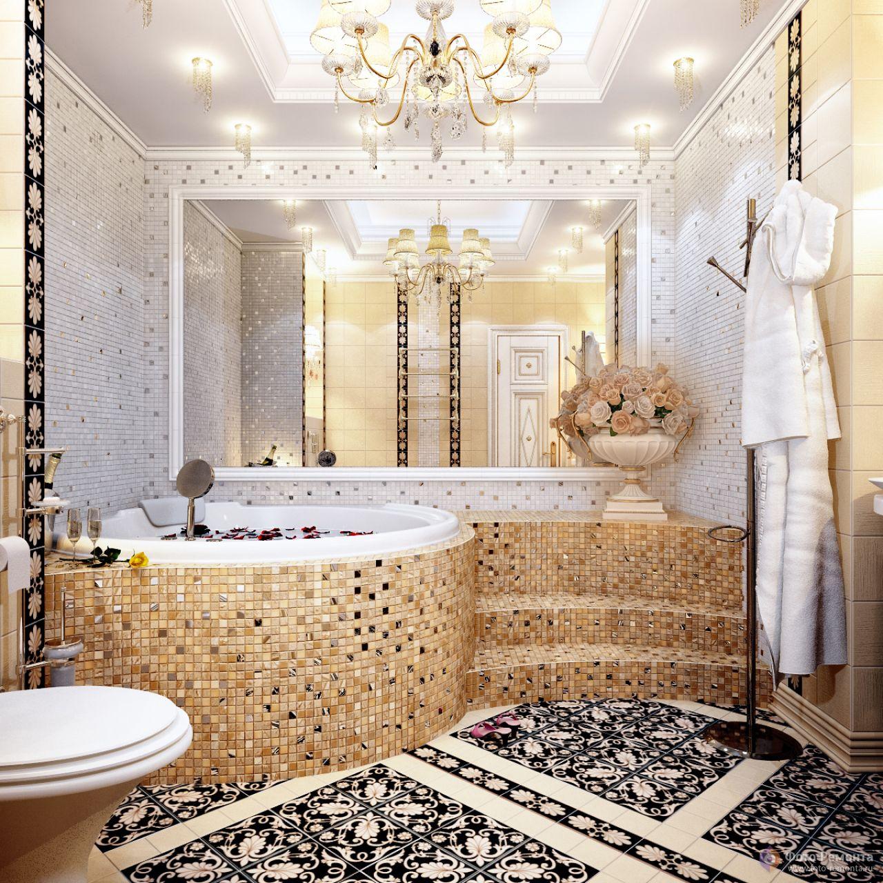 Керамическая плитка и мозаика в дизайне помещений