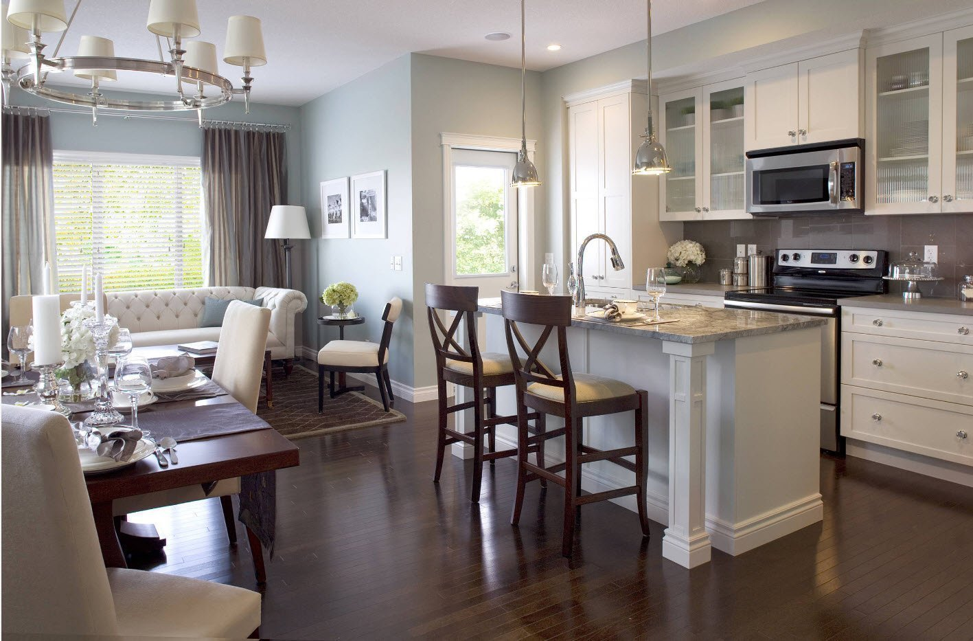Объединение гостиной и кухни