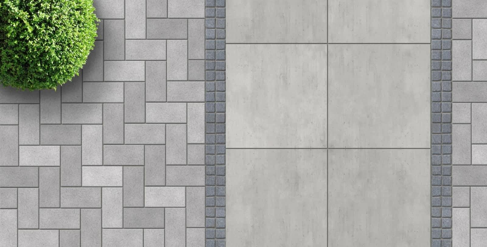 Тротуарная плитка больших размеров
