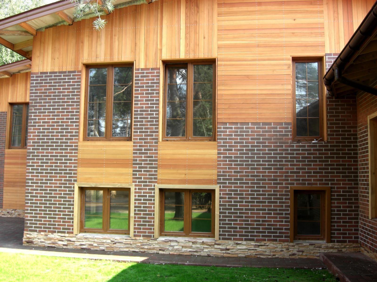 Облицовка дома из дерева различными материалами