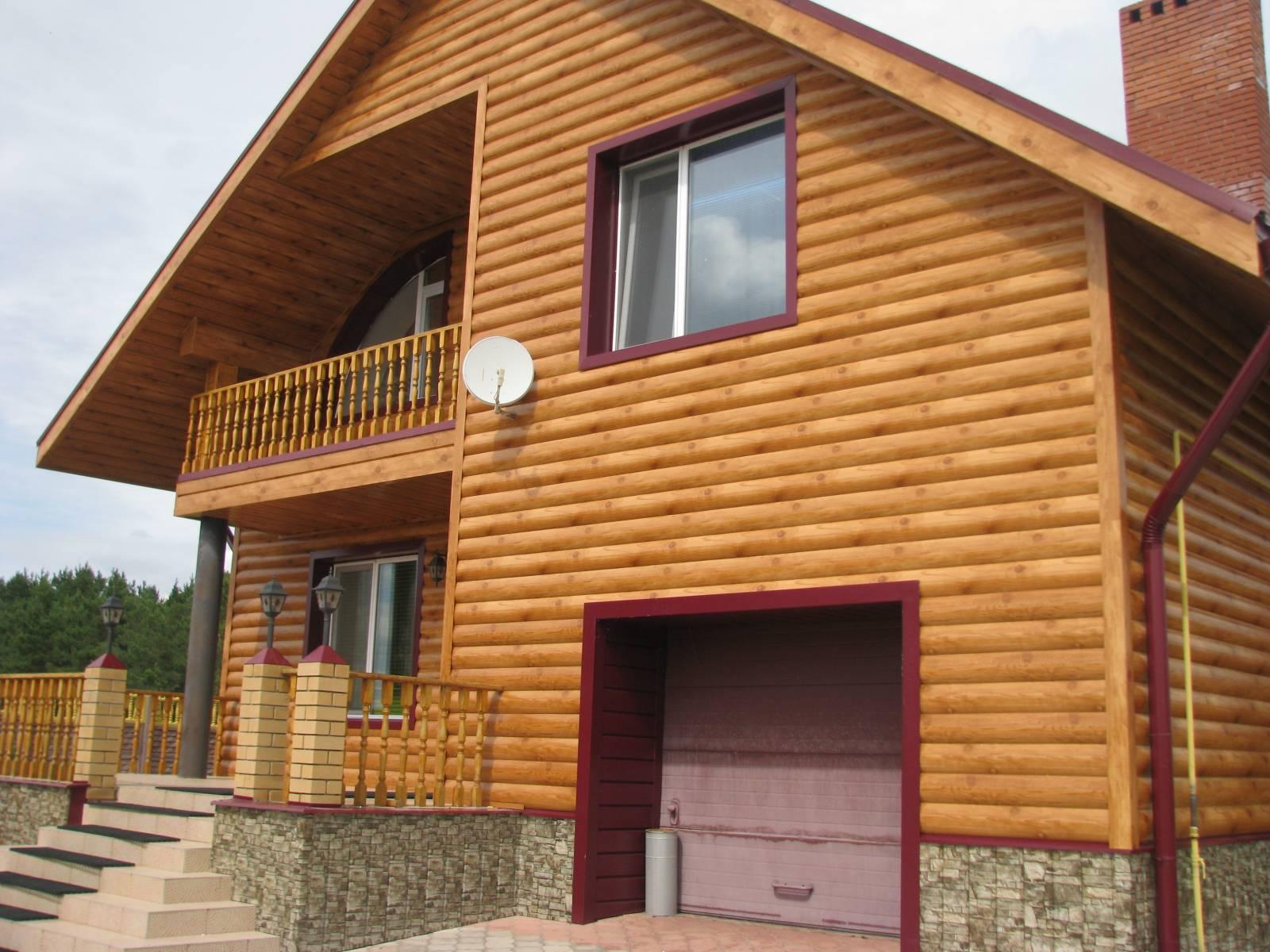 облицовка фасадов деревянных домов